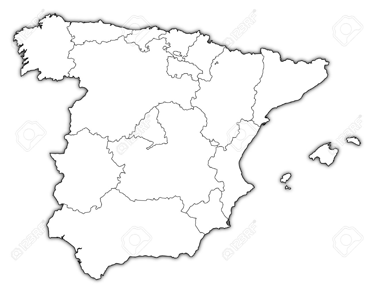 Pictures Of The Map Of Spain Map Coloring Pages