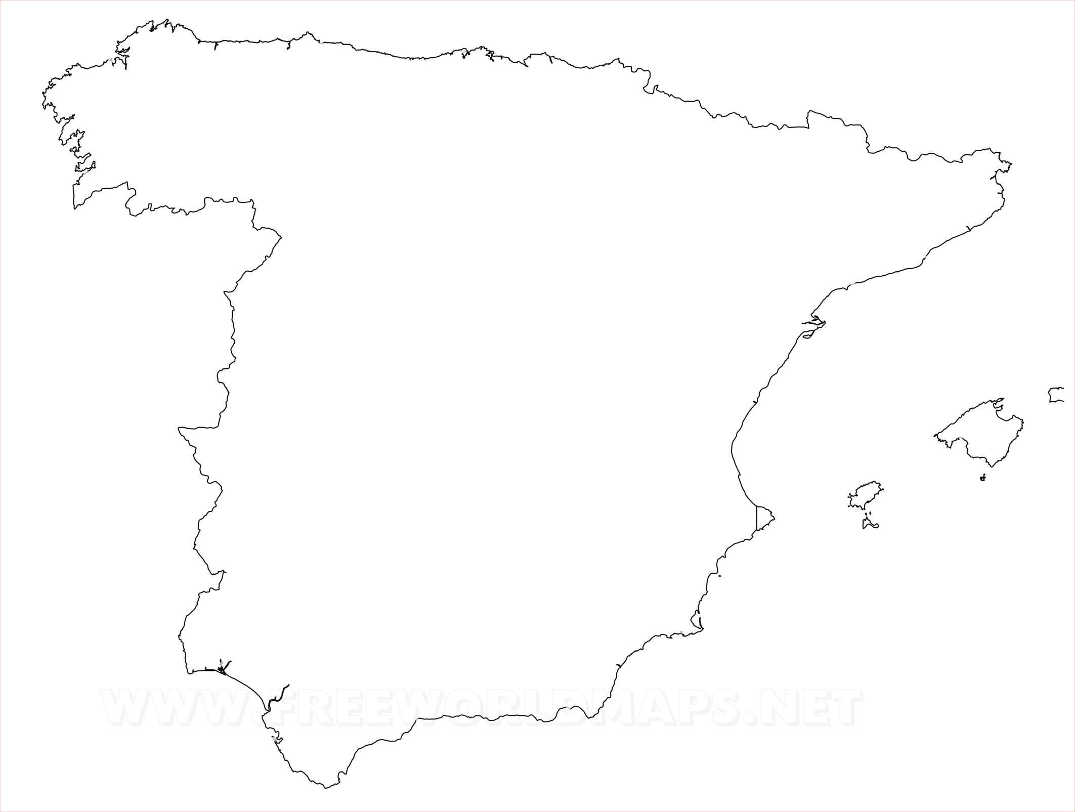 Spain Map Drawing At Getdrawings