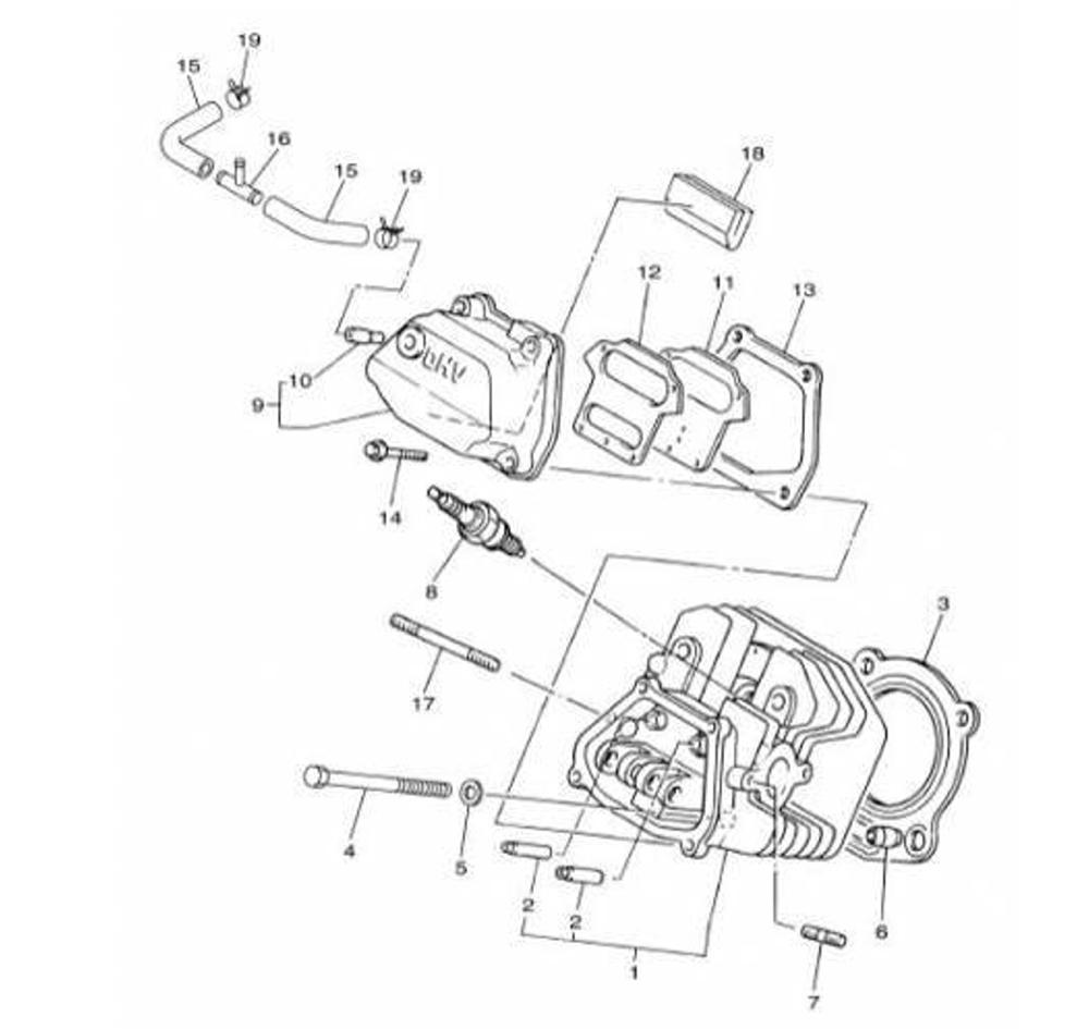 medium resolution of 1000x945 yamaha bpr 4es00 40 spark plug for 2400 2600 2800 3000w rv