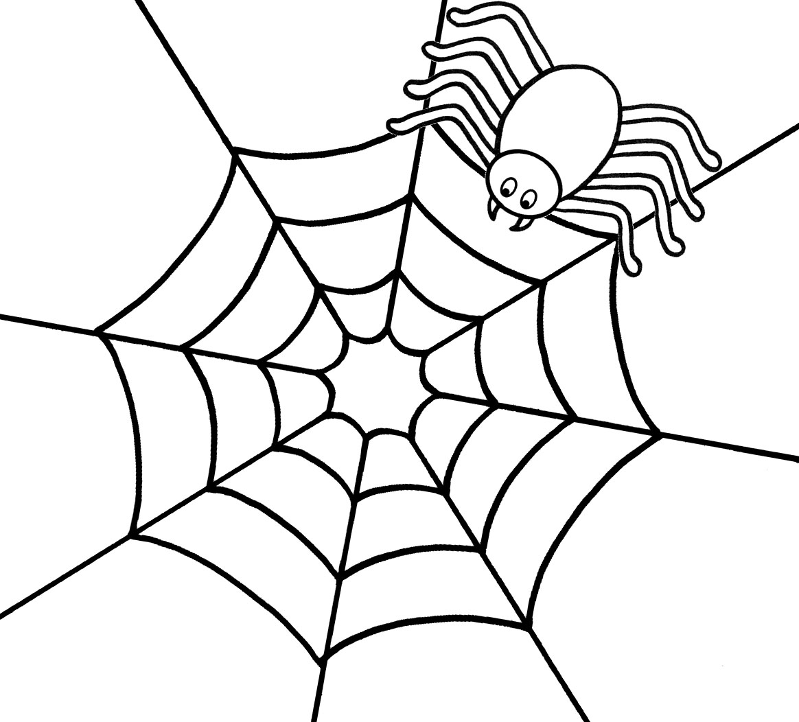 Spider On Web Drawing At Getdrawings