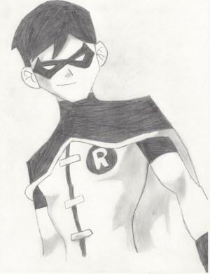 robin justice drawing young superhero drawings pencil draw batman superheroes kid superboy characters easy marvel sketches cartoon cool spiderman fanpop