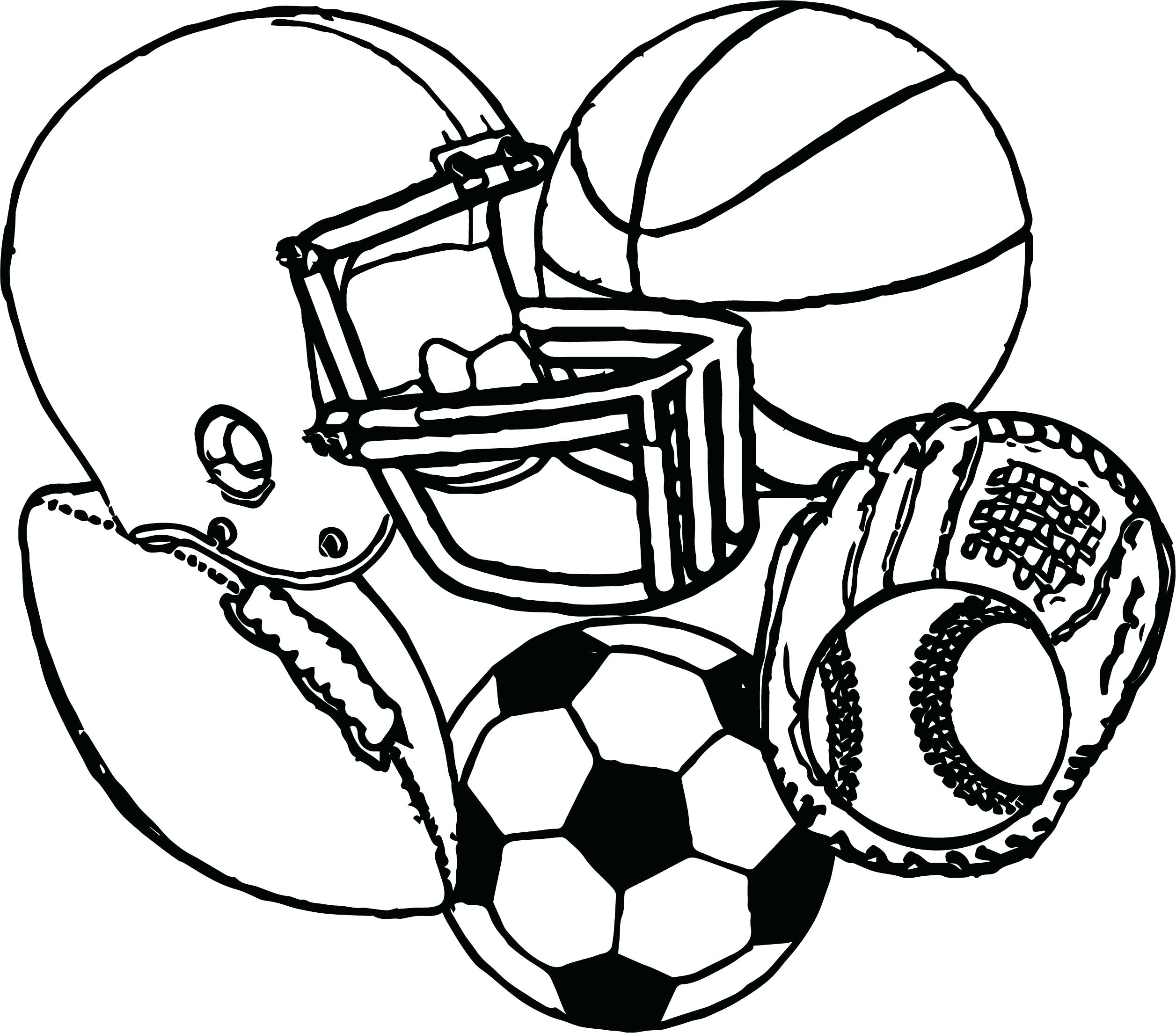 Sports Equipment Drawing At Getdrawings