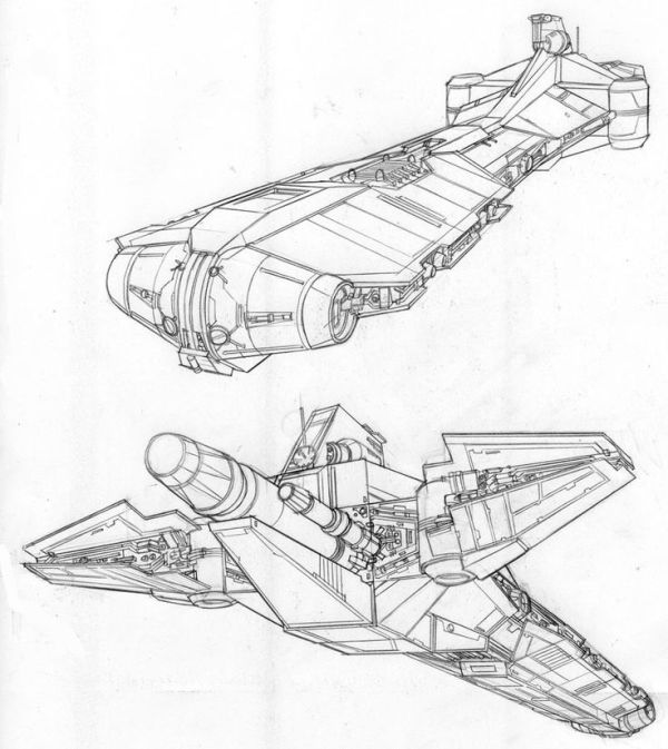 Star Wars Ships Drawing at GetDrawingscom Free for