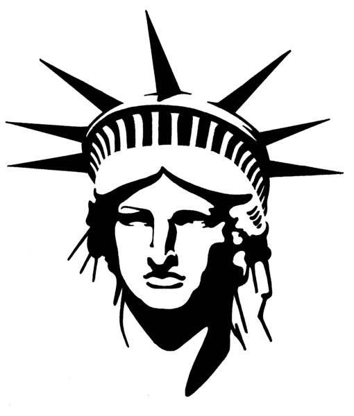 Statue Of Liberty Black And White Drawing at GetDrawings