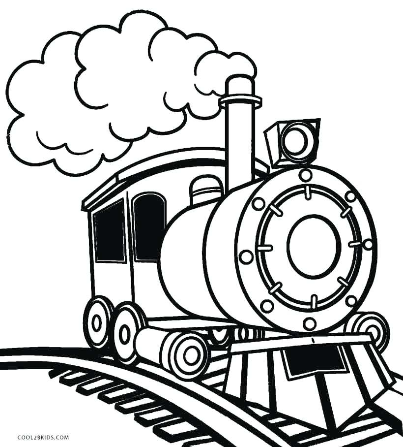 Train Drawing Outline At Getdrawings Com