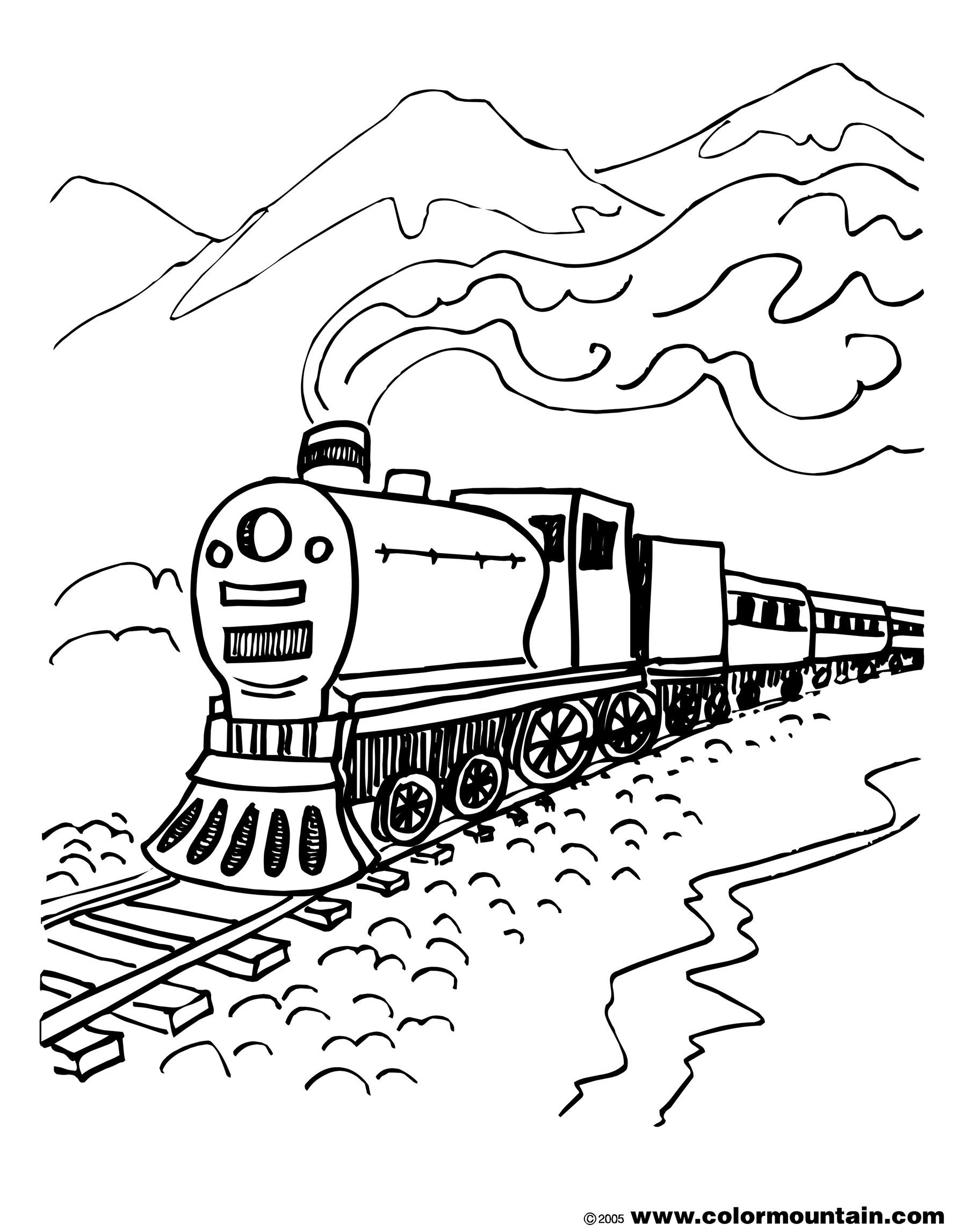 Steam Train Line Drawing At Getdrawings