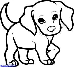 drawing step dogs puppy easy drawings coloring pages getdrawings