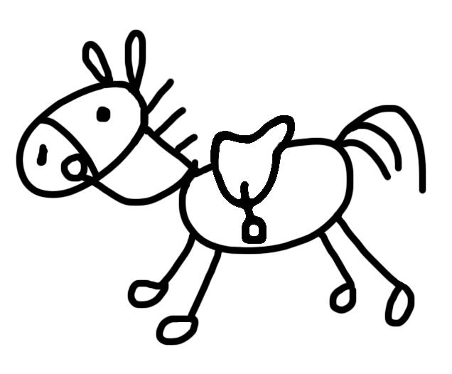 Horse Riding Clipart Cowboy Kid