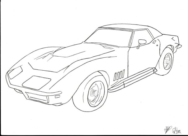 The best free Corvette drawing images. Download from 227