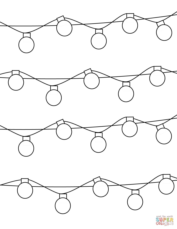 String Lights Drawing At Getdrawings