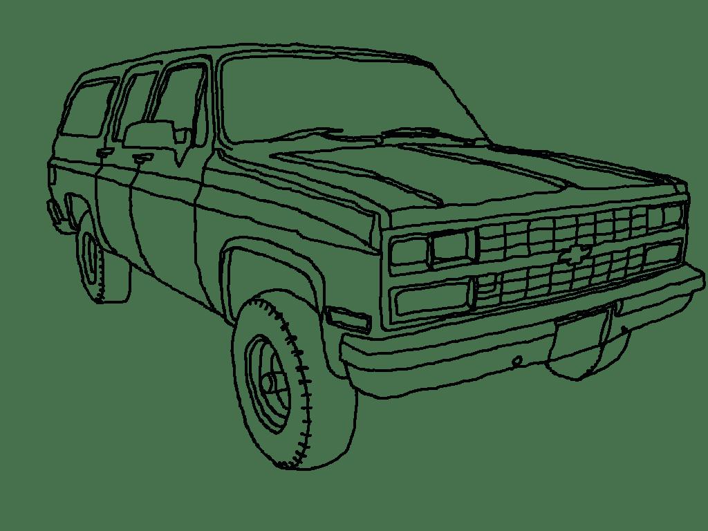 1024x768 chevy suburban lineart by generalrusty78 on deviantart