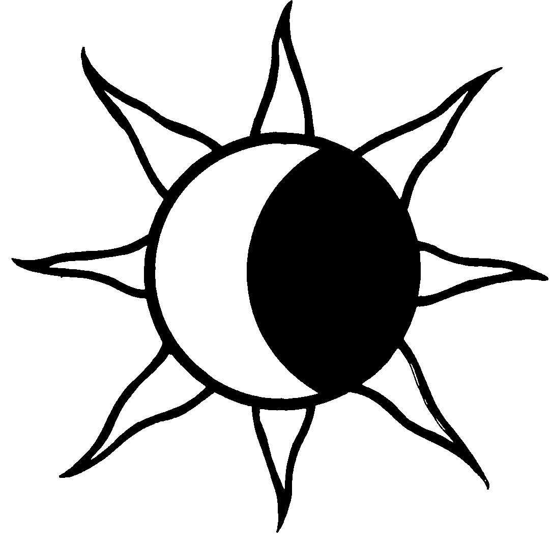 Sun Drawing Black And White At Getdrawings