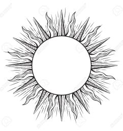1300x1300 hand drawn etching style frame in a shape of sun rays vector [ 1300 x 1300 Pixel ]