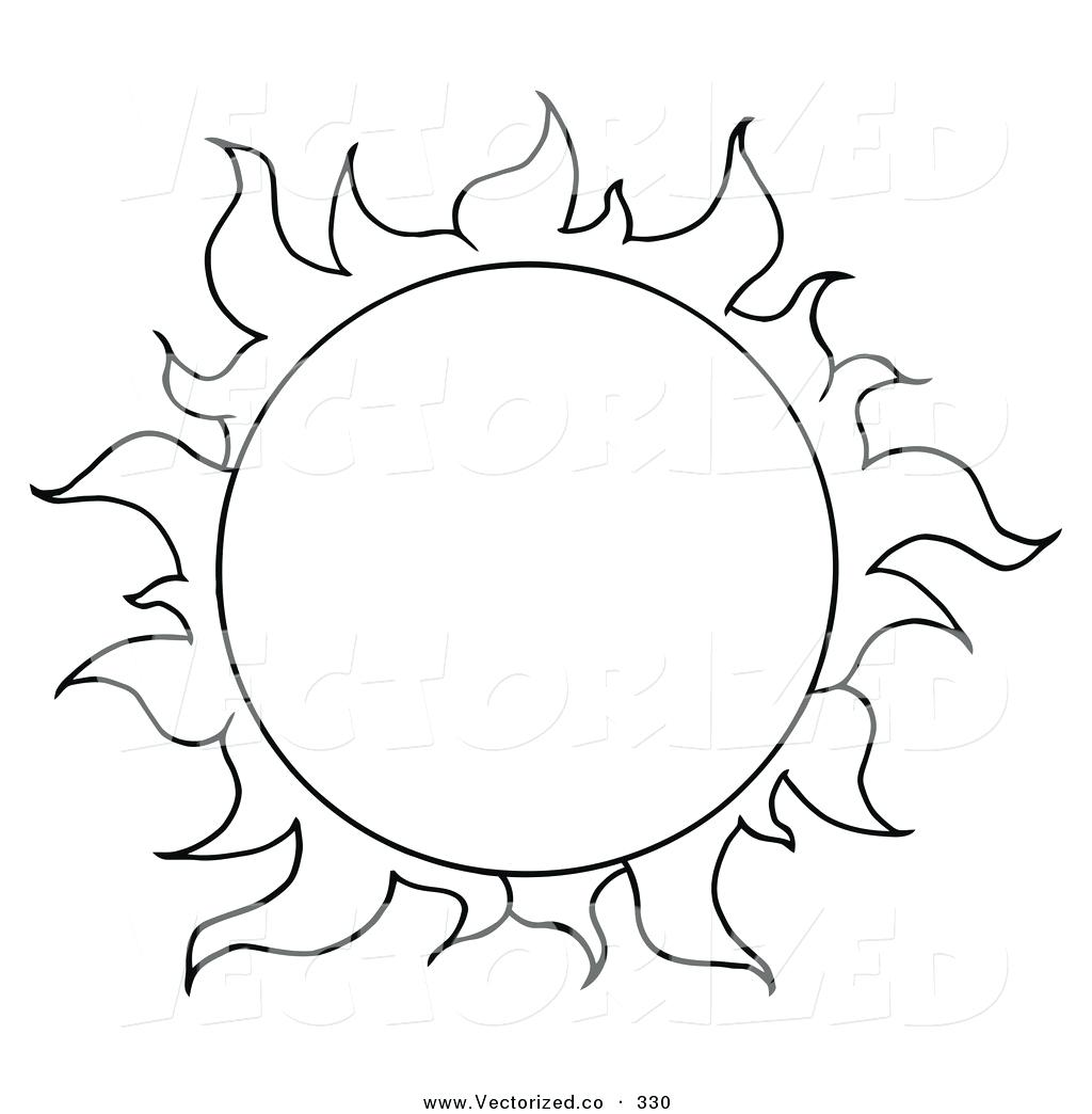 Sunflower Drawing Template At Getdrawings
