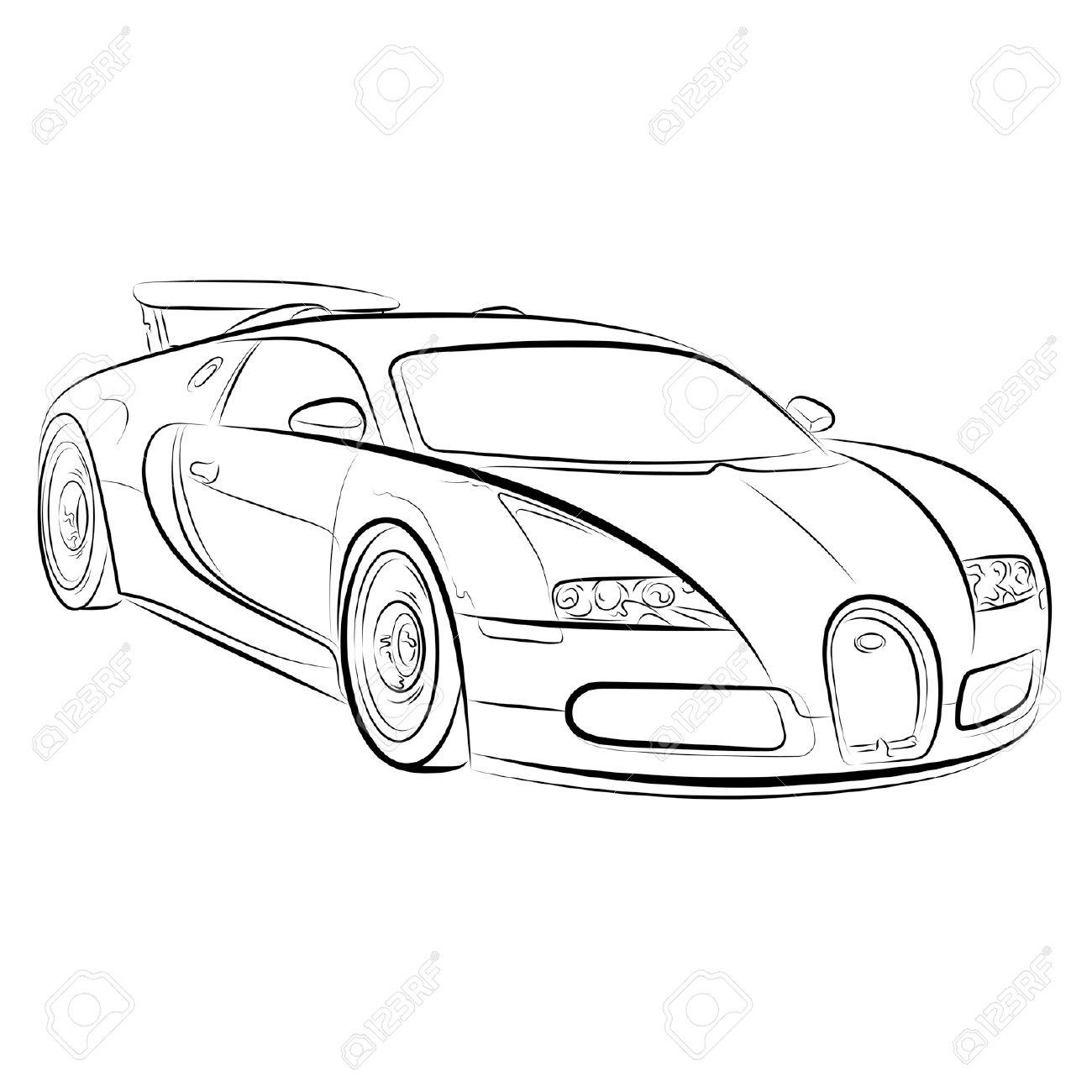 Supercar Drawing At Getdrawings