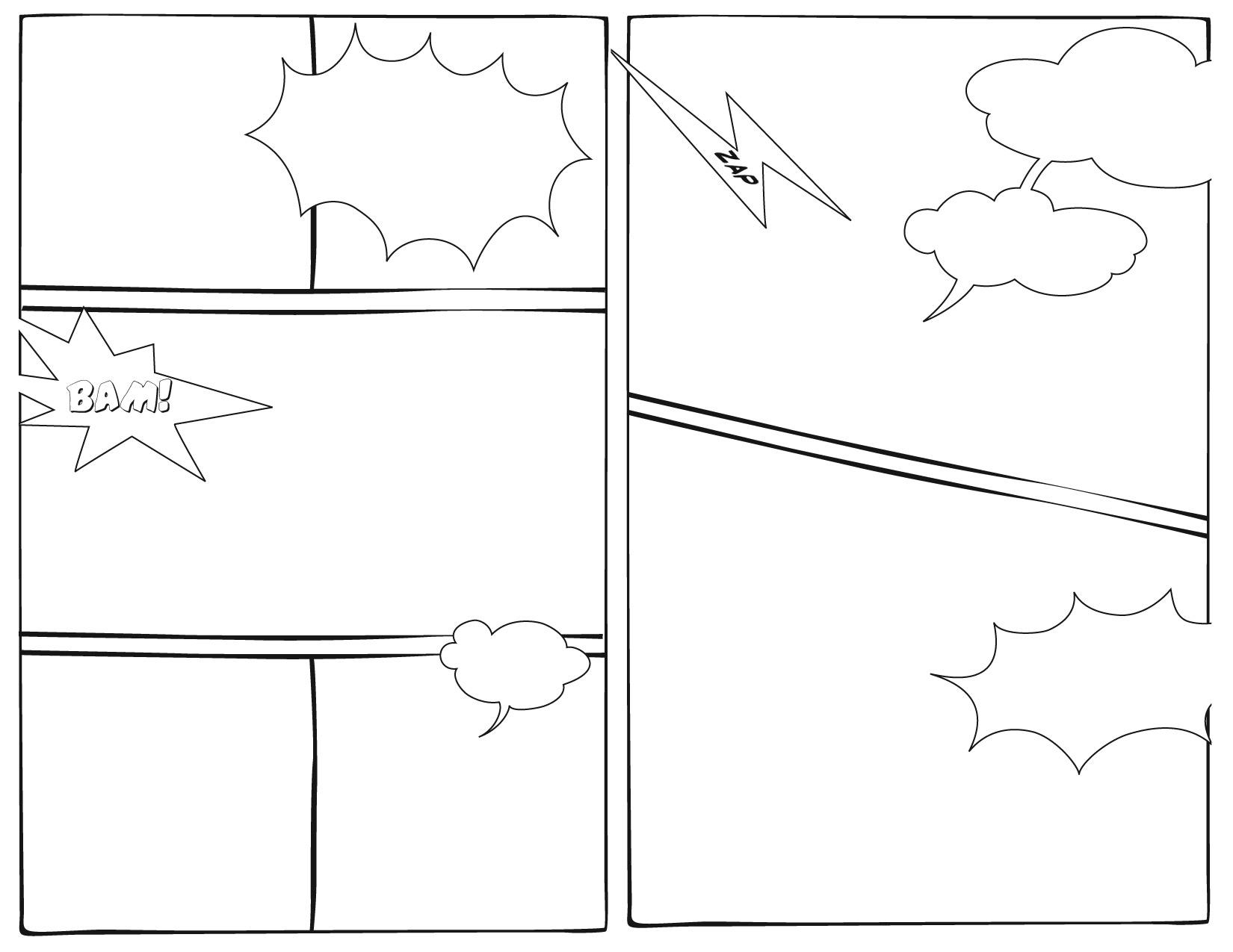 Superhero Drawing Template At Getdrawings