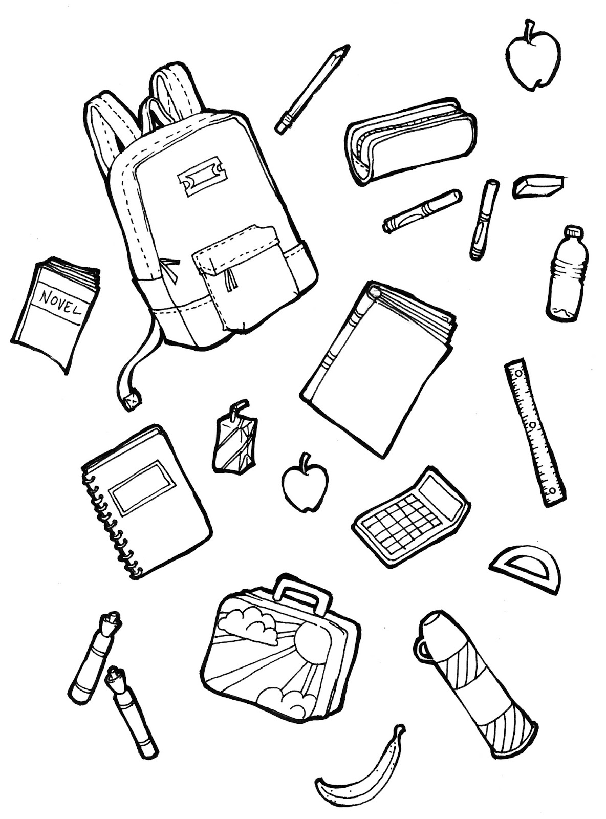 Marker Clipart School Related