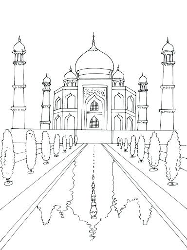 Mosque Drawing At Getdrawings Com