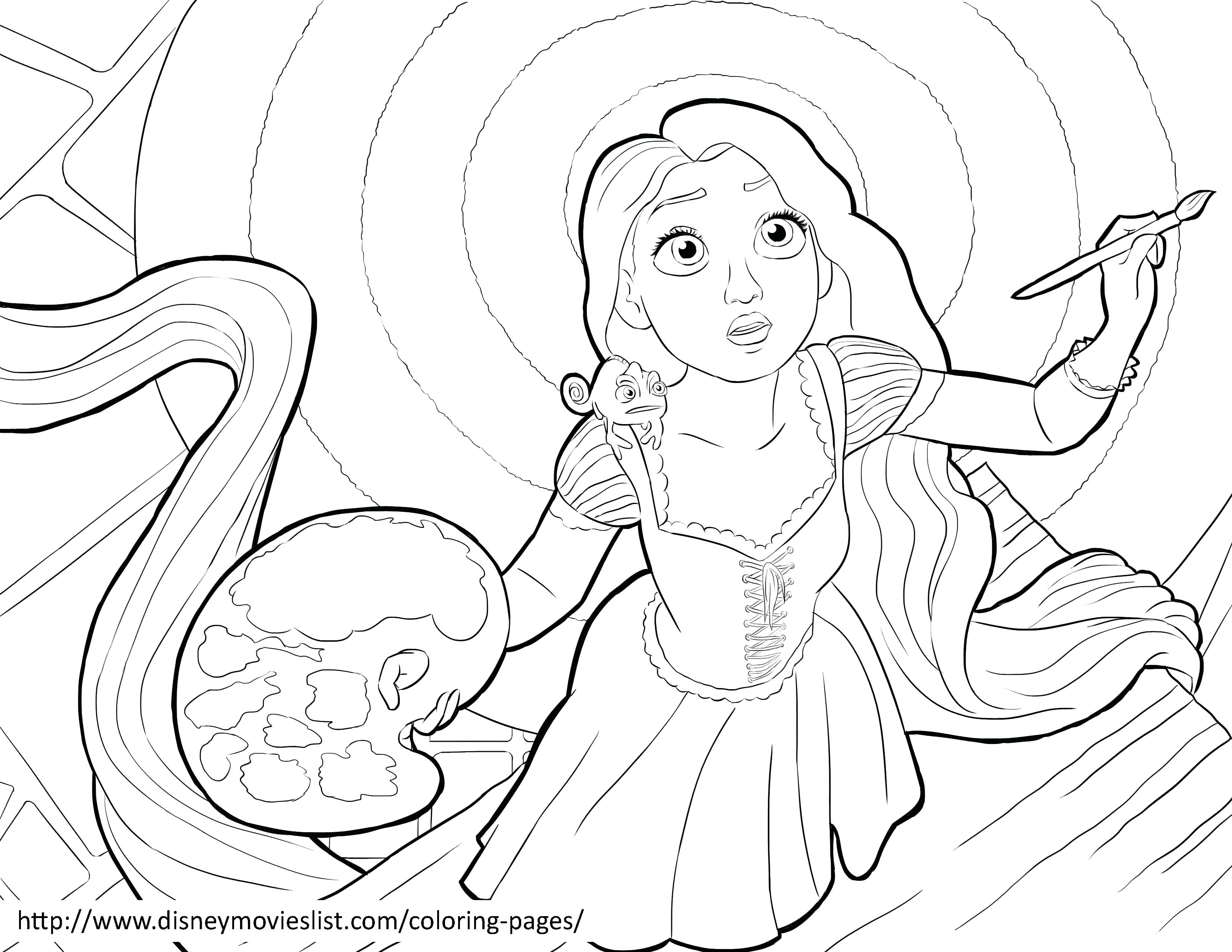 Tangled Drawing Pages At Getdrawings