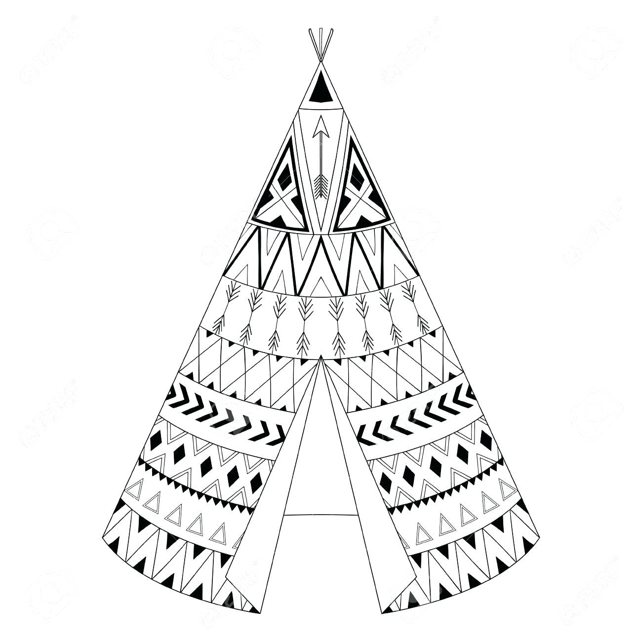 Teepee Drawing At Getdrawings