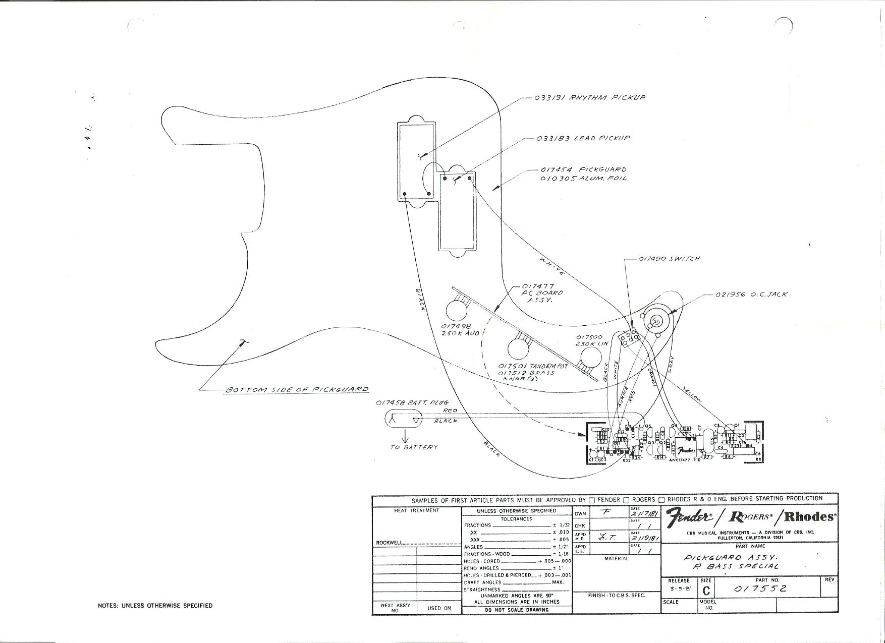 Telecaster Plus Wiring Diagram
