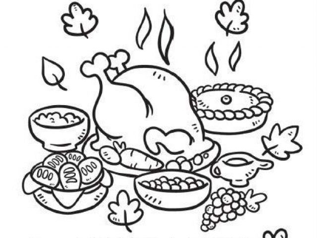 The Plate Of Good Food Coloring Pages
