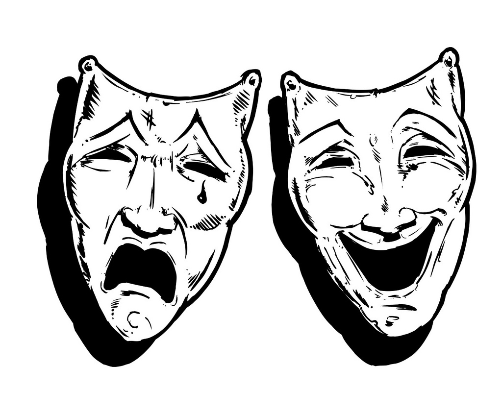 Theatre Masks Drawing At Getdrawings