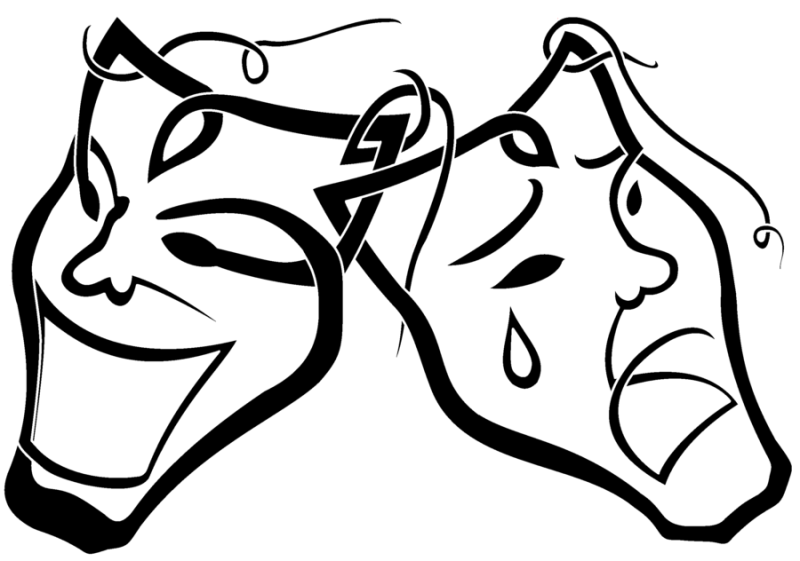 Free Coloring Pages Of Theatre Masks