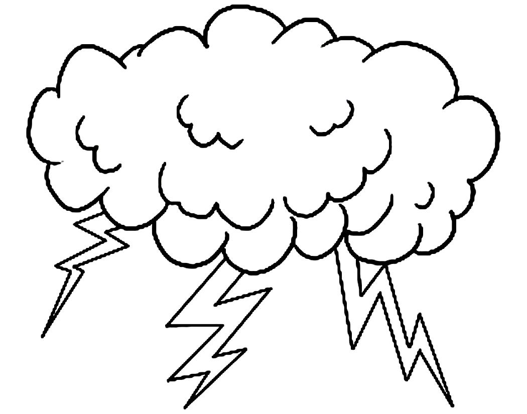 Thunderstorm Drawing At Getdrawings