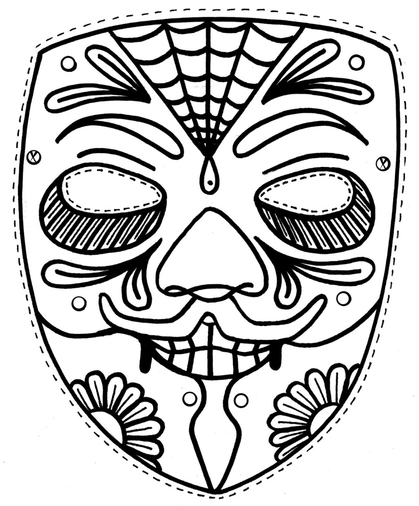 tiki mask drawing at getdrawings  free download
