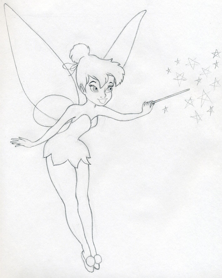 The best free Tinkerbell drawing images. Download from 50