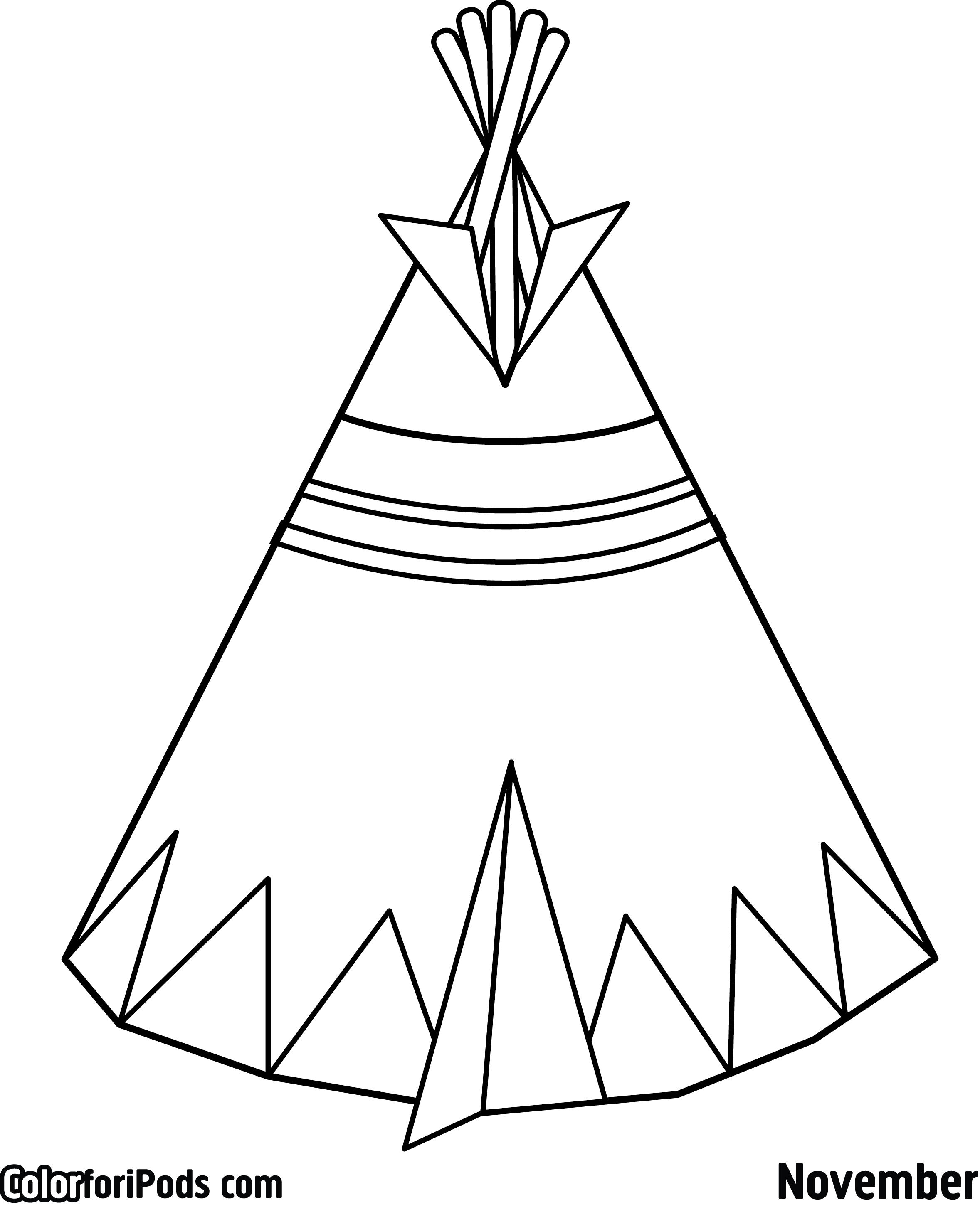 Tipi Drawing At Getdrawings