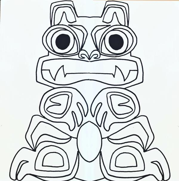 totem pole coloring pages # 35