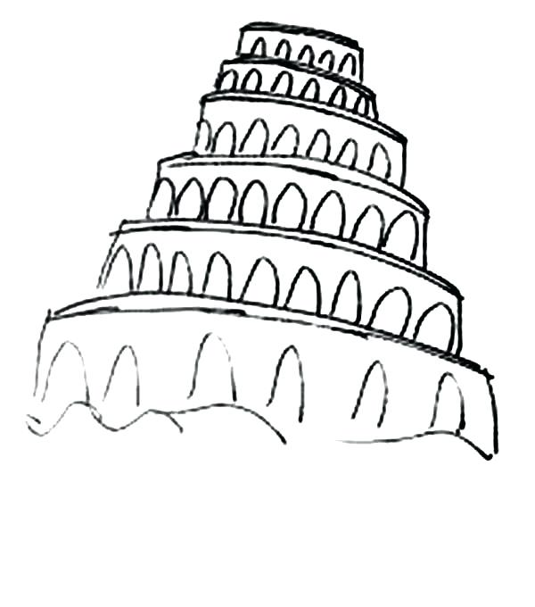 tower of babel drawing at getdrawings  free download