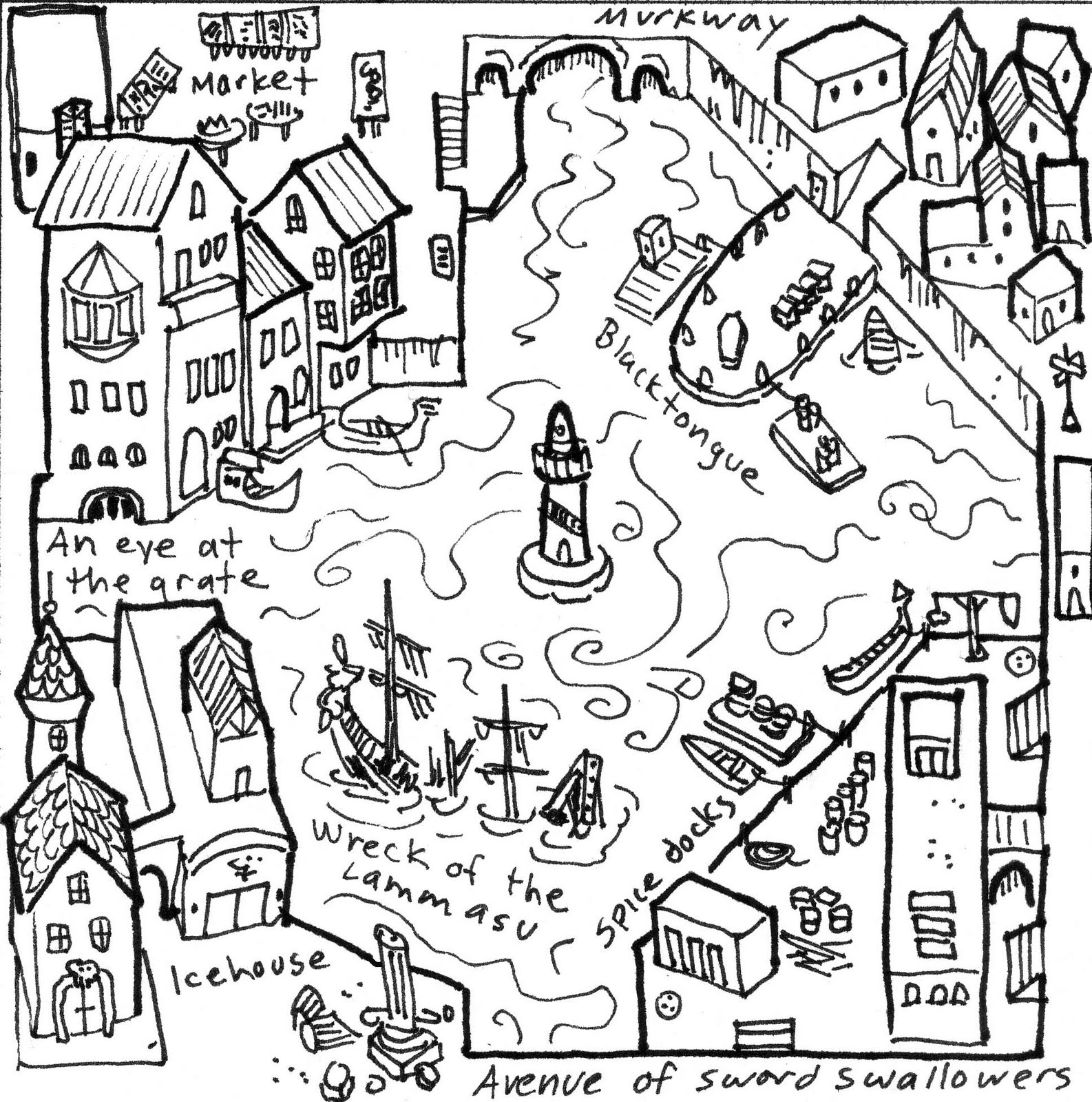 Town Drawing At Getdrawings