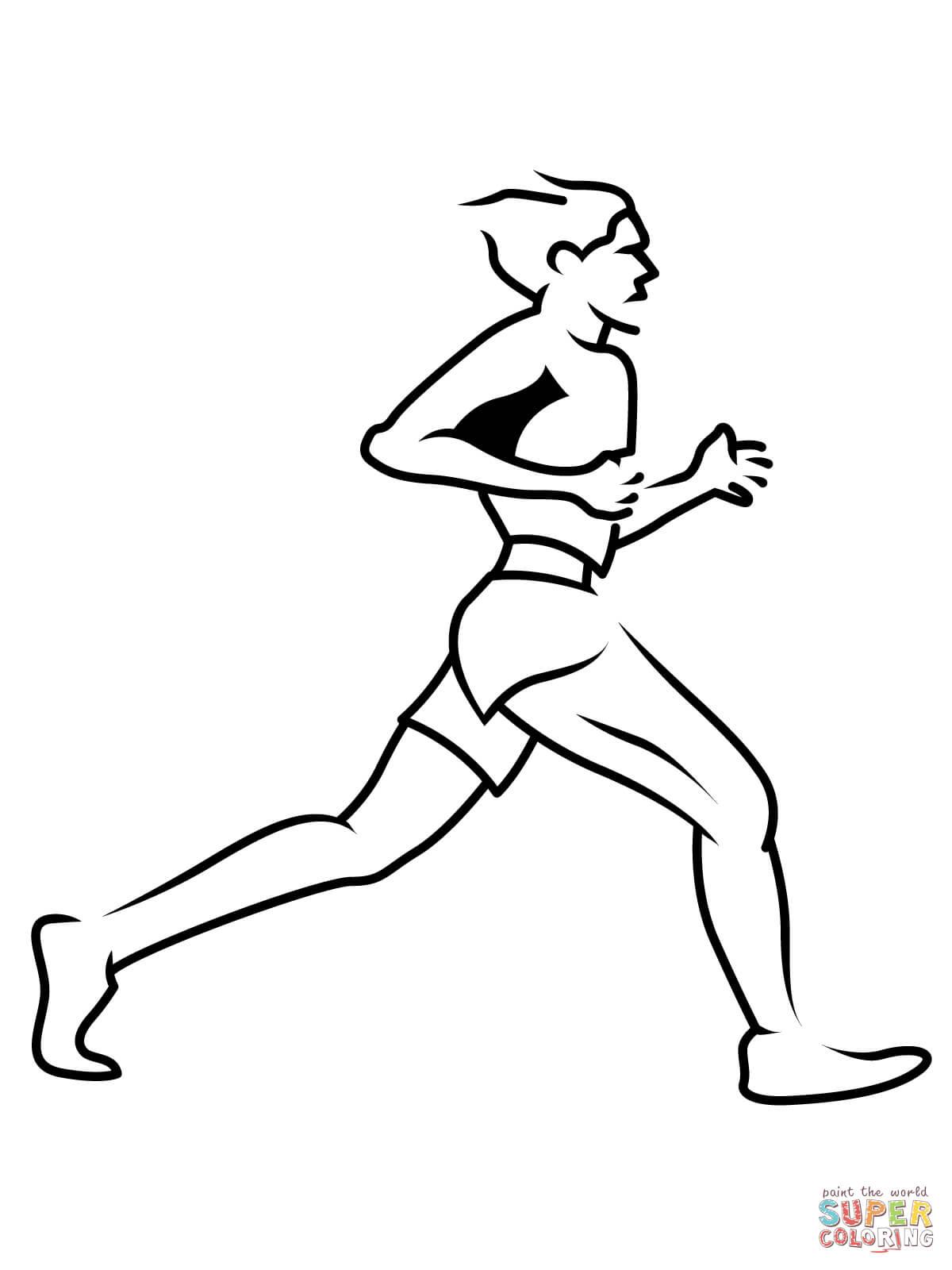 Track Runner Drawing At Getdrawings