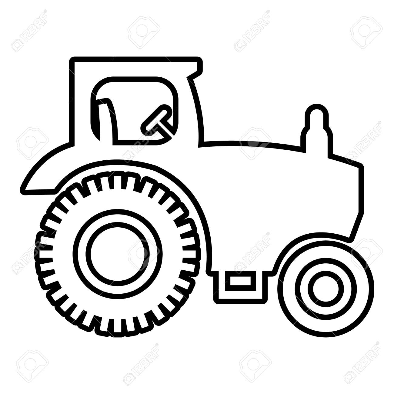 Tractor Drawing Outline At Getdrawings