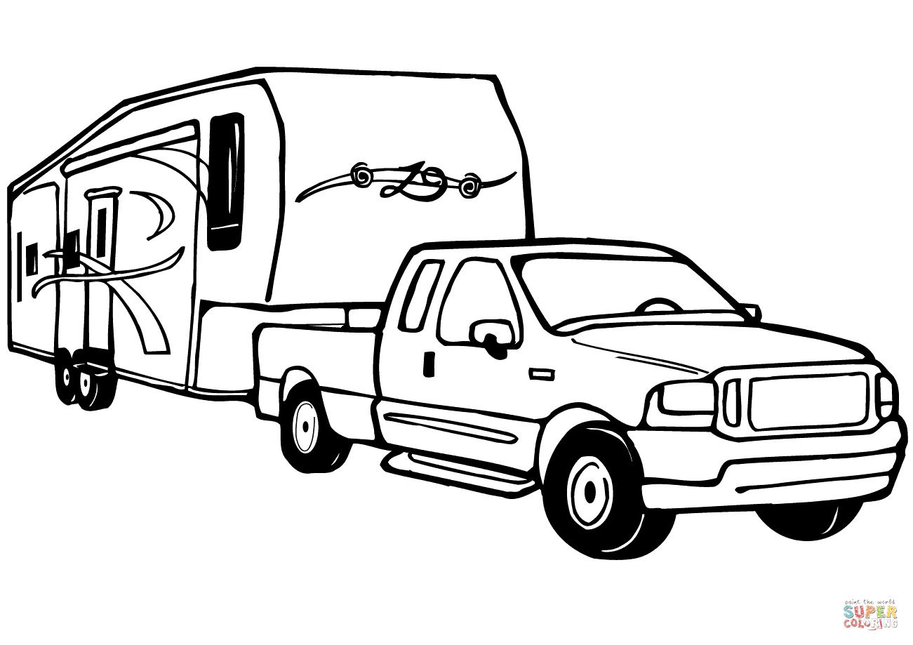 Trailer Drawing At Getdrawings