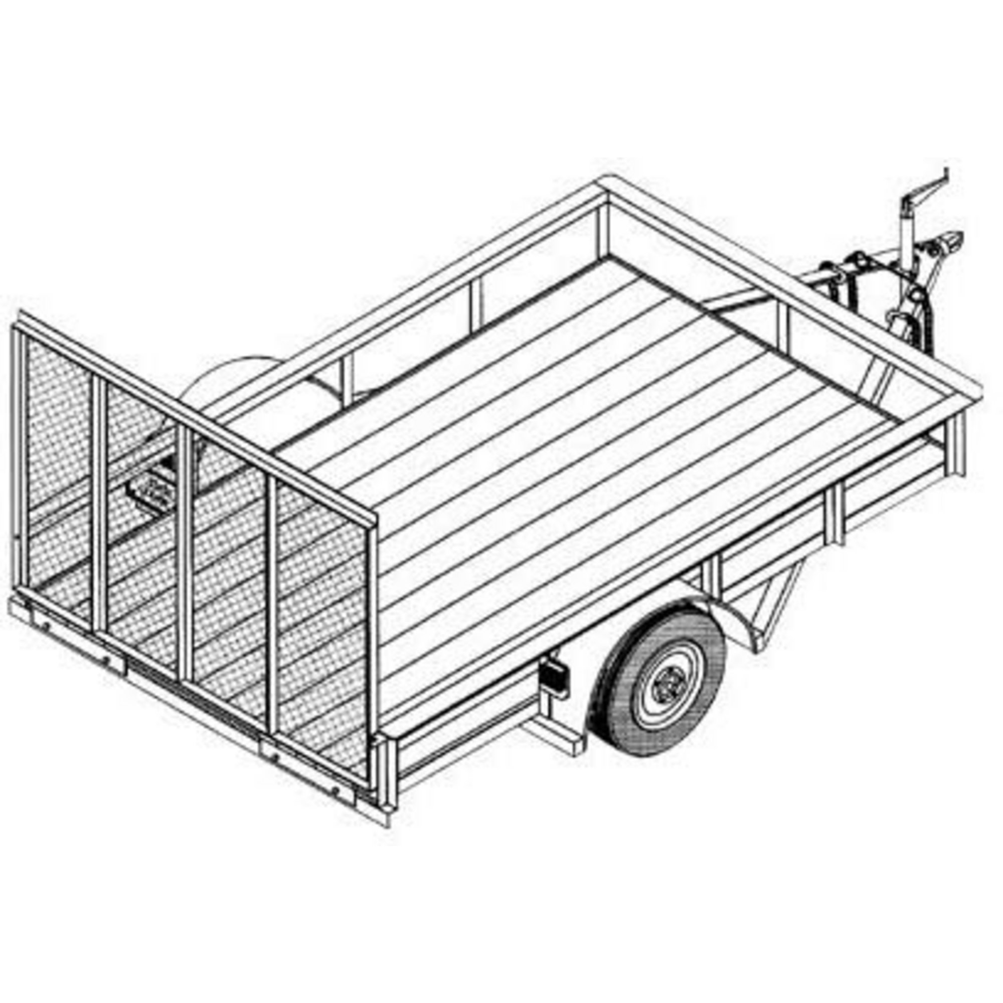 hight resolution of 2000x2000 utility trailer blueprints northern tool equipment