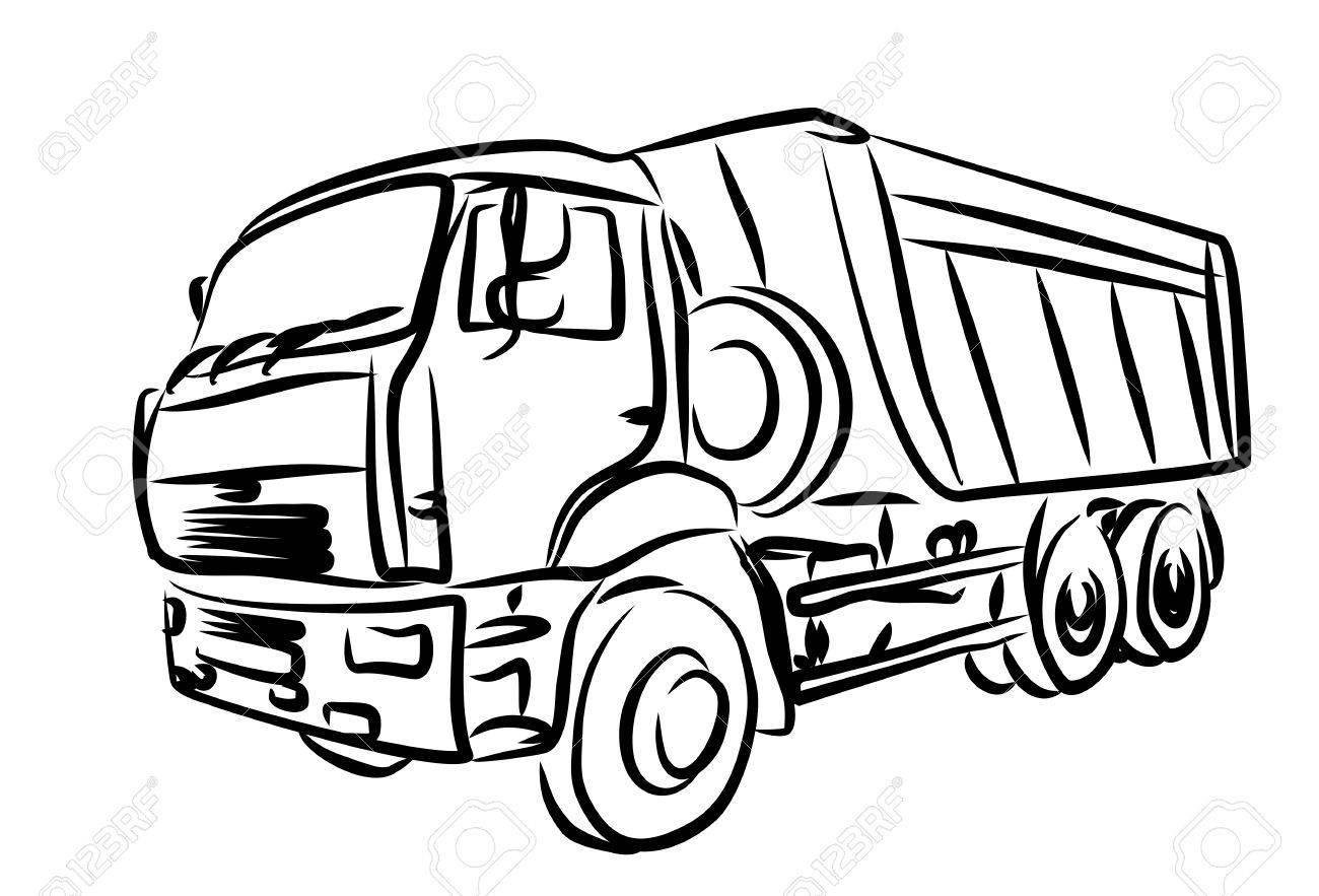 Trailer Truck Drawing At Getdrawings