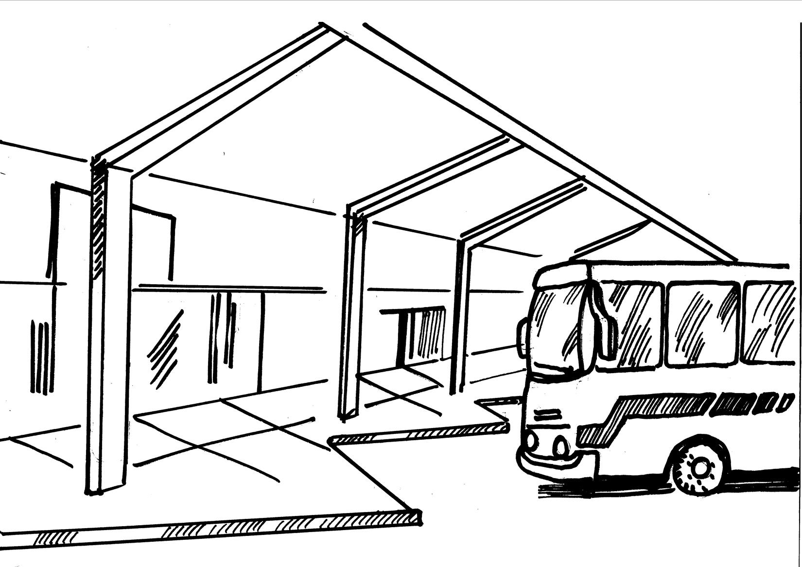 Train Station Drawing At Getdrawings