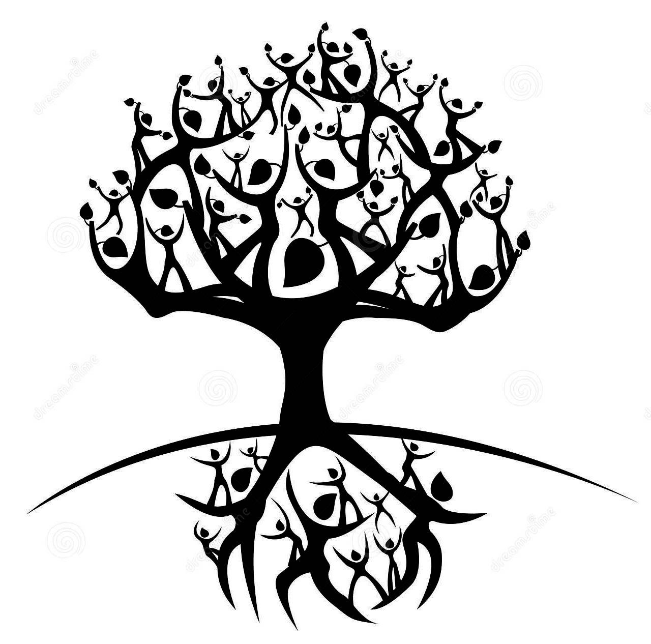 Family Tree Tattoo Drawing