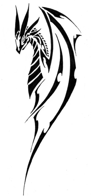 tribal drawing step dragon simple cool getdrawings