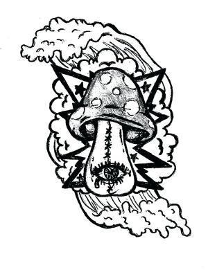 mushroom trippy coloring pages drawing alien drawings easy shroom psychedelic mushrooms printable getdrawings magic clipartmag getcolorings whitesbelfast colo