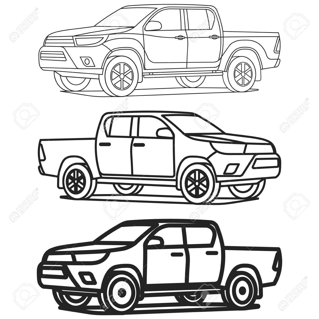 Truck Outline Drawing At Getdrawings