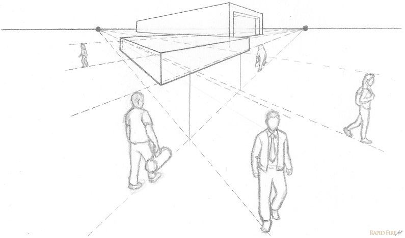 Two Point Perspective Building Drawing at GetDrawings