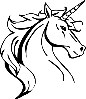 unicorn drawing easy head line draw lineart horse profile drawn commission unicorns drawings cool sketches amazing licorne google clipart pencil