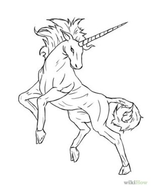 unicorn drawing draw easy drawings cartoon pages horse step getdrawings mythical creatures