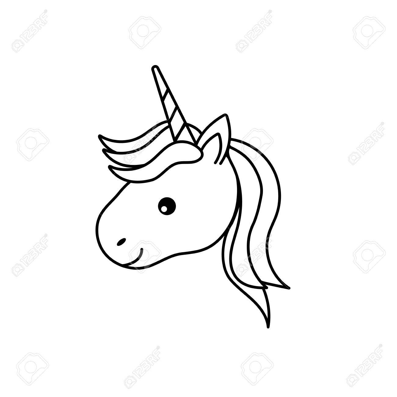 Unicorn Horn Drawing At Getdrawings
