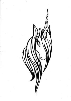 unicorn easy drawing simple head unicorns tattoos draw drawings deviantart pencil clipart tattoo library sketch filigree heart clipartmag clipartpanda clip